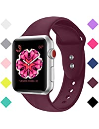 Booyi Sport Band for Apple Watch 38mm 42mm, Soft Silicone...