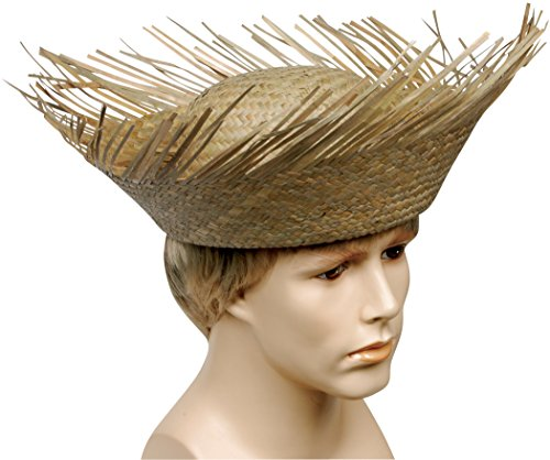 [Loftus Men Straw Beachcomber Swiss Family Costume Hat, Brown, One Size] (Oktoberfest Costumes Hat)