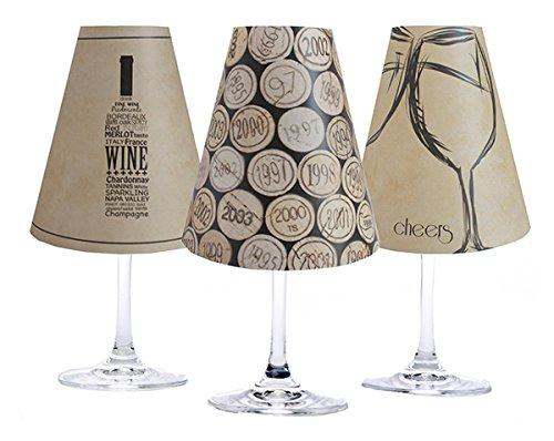 di Potter WS239 Napa Paper White Wine Glass Shade, Parchment (Pack of 6) - Parchment Paper Shade