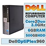 Dell OptiPlex 960 SFF / Core 2 Duo E8400 @ 3.00 GHz / 6GB DDR2 / 500GB HDD/DVD-RW/WINDOWS 7 PRO 64 BIT