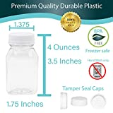 4 oz Empty Plastic Juice Bottles with Lids 12 Pack