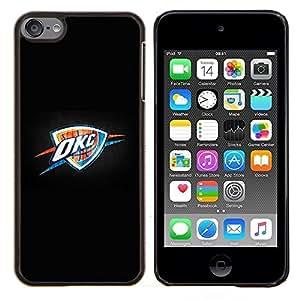 Oklahoma Baloncesto- Metal de aluminio y de plástico duro Caja del teléfono - Negro - iPod Touch 6