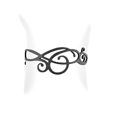 Pulsera del Ola de la goma silicona Negra efecto tatuaje - LAD ...