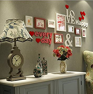 HJKY Photo Frame Wall Set Kreative Wohnzimmer Wand Dekoration Aufkleber  Paare Zimmer Wallpaper Poster Schlafzimmer Selbstklebend