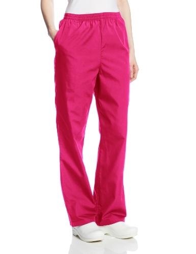 Cherokee Women's Workwear Scrubs Pull-On Pant, Azalea, X-Large-Petite