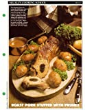McCall's Cooking School Recipe Card: Meat 10 - Prune-Stuffed Roast Pork With Browned Potatoes, Swedish Style (Replacement McCall's Recipage or Recipe Card For 3-Ring Binders)