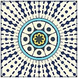Photo Block Grey Mandala Square Tableau 30 cmx30 cm - 2724806019582
