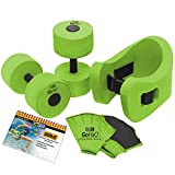 GoFit GF-GOH20 Aqua Fitness Kit with Laminated Exercise Flip Chart, Green