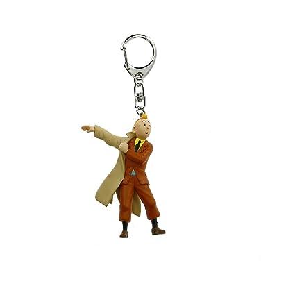 Amazon.com: Llavero Figura Tintín wearing su escudo 8,5 cm ...