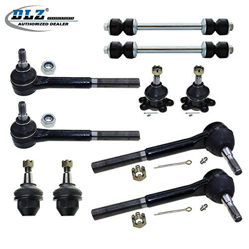 DLZ 10 Pcs Front Kit-2 Lower 2 Upper Ball Joint, 2 Inner 2 Outer Tie Rod End, 2 Sway Bar for 1999-2000 Cadillac Escalade, 1996-1999 Chevrolet GMC K1500 (Suburban), 1996-2000 Chevrolet GMC K2500 Chevrolet K1500 Sway Bar