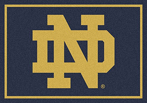 NCAA Team Spirit Door Mat - Notre Dame Fighting Irish ''ND'', 56'' x 94'' by Millilken