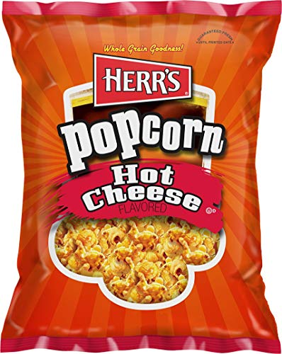 Hot Cheese Popcorn - Herr's Hot Cheese Popcorn 2.5 oz Bags - Pack of 18