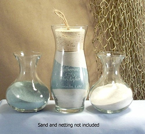 (Unity sand ceremony set - Sonora style with Sweetheart side vases)