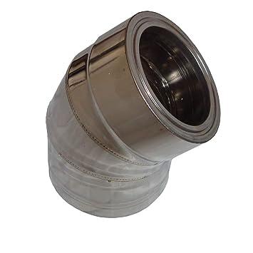 Codo de doble pared,acero inoxidable,aislamiento de 45, diámetro 80-300mm