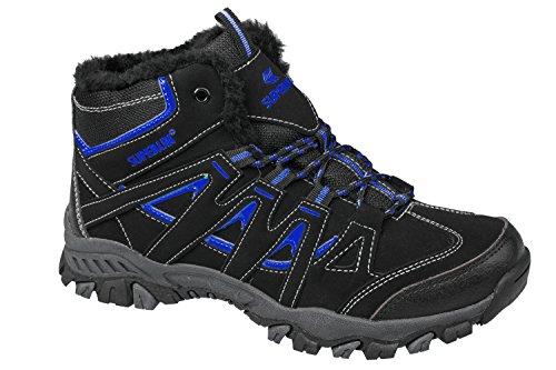 gibra - Botas de senderismo de Material Sintético para hombre negro/azul