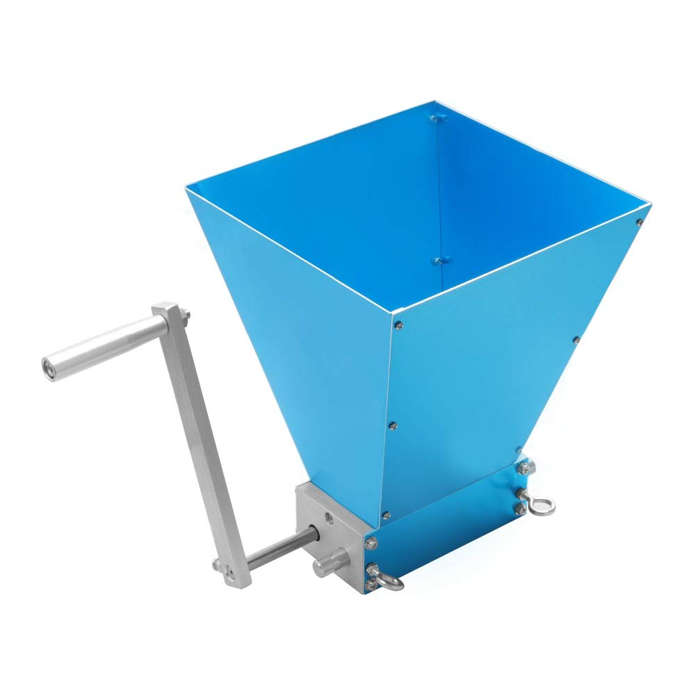 CGOLDENWALL Stainless 2-roller Grain Mill Adjustable Barley Crusher Malt Mill Barley Grinder For Homebrew Wholesale & Dropshipping (With A Wooden Base)