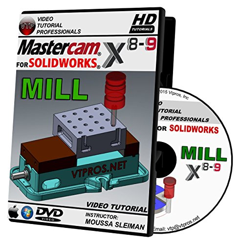 Mastercam For Solidworks X8-X9 - Mill Video Tutorial HD DVD by VTPROS.NET