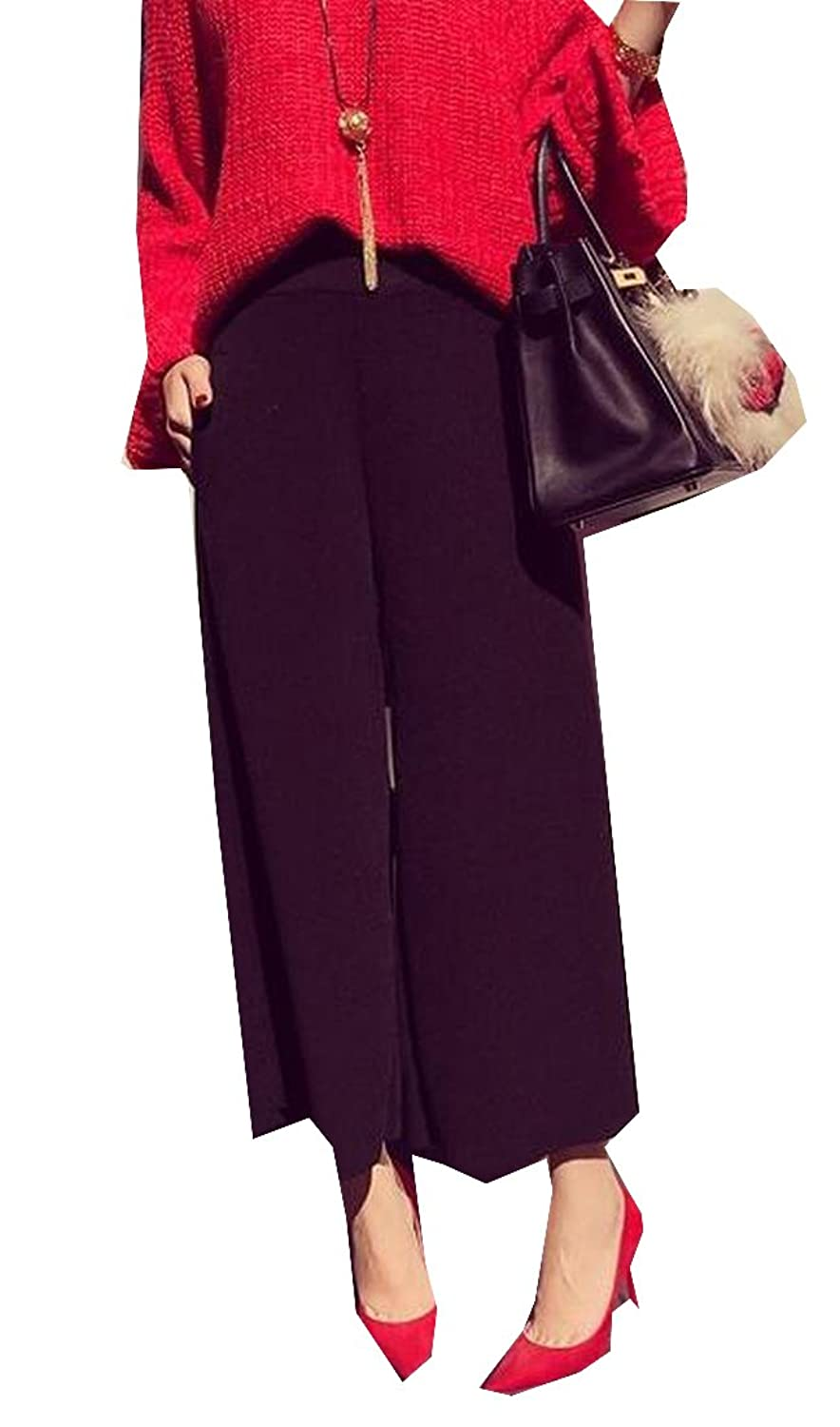 Generic Womens Wild Simple Modern Stretch Pants Palazzo Pants