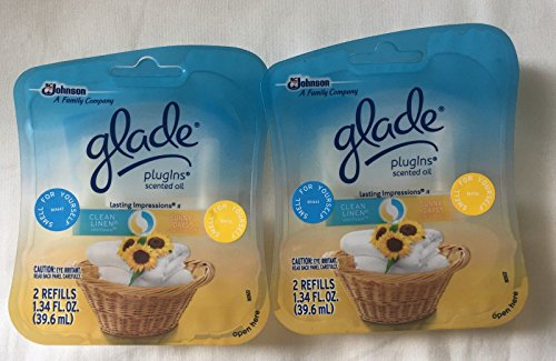 4 GLADE PLUGINS SCENTED OIL REFILLS 2 CLEAN LINEN / 2 SUNNY DAYS SEALED - Johnson Shopping City