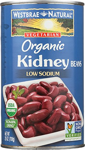 Westbrae Natural Organic Beans, Kidney, 25 Ounce (Pack of 12)