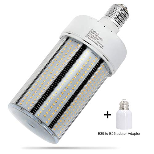 100W LED Corn cob Light Bulb, Large Mogul Base E39 LED Bulbs,5000K Daylight AC110-277V,LED Replacement 400W Metal Halide HID HPS for Steet Area Garage Factory Warehouse Workshop Parking lot High Bay