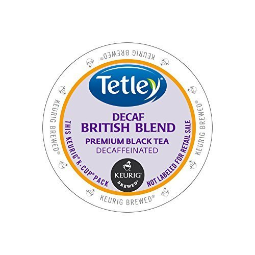Tetley Tea British Blend Decaf Kcups 96ct by Tetley by Tetley