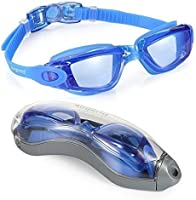 Aegend Swim Goggles, Swimming Goggles No Leaking Anti Fog UV Protection Triathlon Swim Goggles with Free Protection Case...
