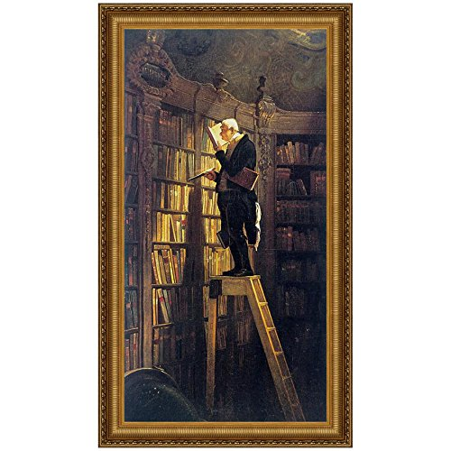 Design Toscano The Bookworm, 1850 Canvas Replica Painting: Small