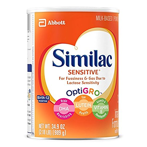 Similac Sensitive Infant Formula with Iron, Powder, One Month Supply, 34.9 ounces (Pack of 3) by Similac (Image #6)