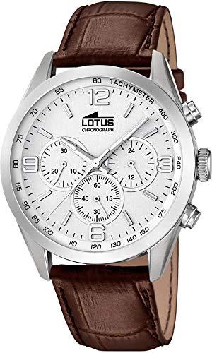 Lotus men chronograph watch stainless steel