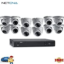 MPX M3100E Series 16-Channel 1080p DVR with 3TB HDD and 12 1080p Dome Cameras and Free 6 Feet Netcna HDMI Cable - By NETCNA