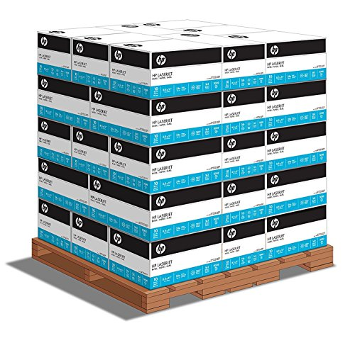 HP Printer Paper, LaserJet Copy Paper, 24lb, 8.5x 11, Letter, 98 Bright - 160,000 Sheets / 32 Cartons / 1 Pallet (112400P) Made in the USA