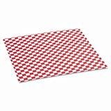 Bagcraft Papercon 057700 Grease Resistant Paper Wrap and Basket Liner, 12'' Length x 12'' Width, Red Check (5 Packs of 1000)