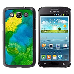 MOBMART Carcasa Funda Case Cover Armor Shell PARA Samsung Galaxy Win I8550 - The Green Colored Spill