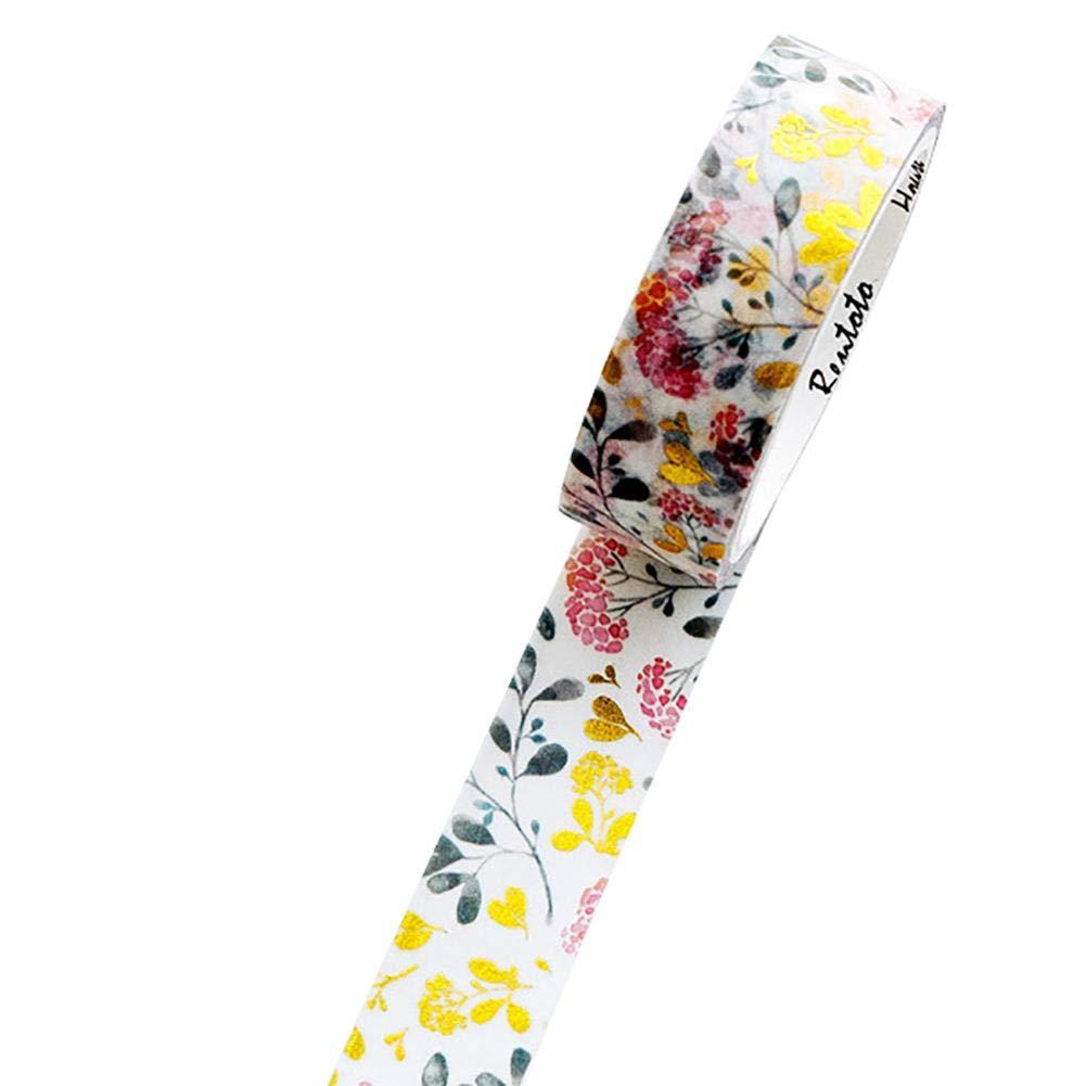 Nowbetter Washi Tapes artigianato decorazione di libri 1.5cm*50cm Stil-12 scrapbooking regali nastro adesivo colorato autoadesivo per fai da te