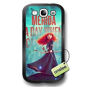 Disney Brave Princess Merida Soft Rubber(TPU) Phone Case & Cover for Samsung Galaxy S3(i9300) - Black