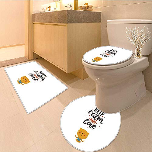 Miki Da Lid Toilet Cover valentines day card cute animal hand drawn letters isolated Personalized (60x80 Da Mat)