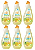 Natural Concentrated Liquid Dish Soap - Light Citrus Scent - Non-Toxic, Plant-Based, Hypoallergenic - 22 Ounce Bottle (Pack of 6)