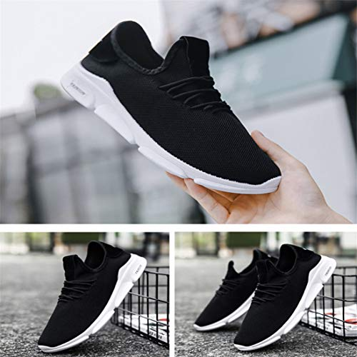 Fondo Correr Sólido Hombre Para Encaje De Casual Con Zapatillas Negro Zapatos Correr Transpirable Calzado Plano Entrenamiento Deportivo Hombres Ligeros aPBnZwq