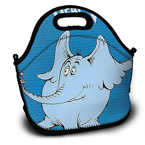 (Midsummer Sky Neoprene Lunch Bags Horton Hears A Who Insulated Lunch Tote Lunchbox Thermal Carrying with Zipper for Men Women)