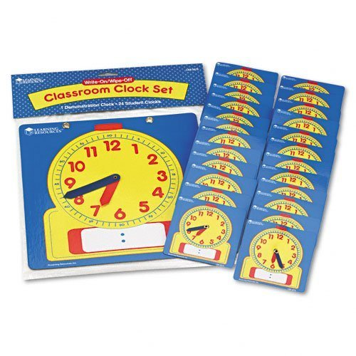 Learning Resources Write On/Wipe Clocks Classroom Set, Model: LER0575, Baby & Child Shop