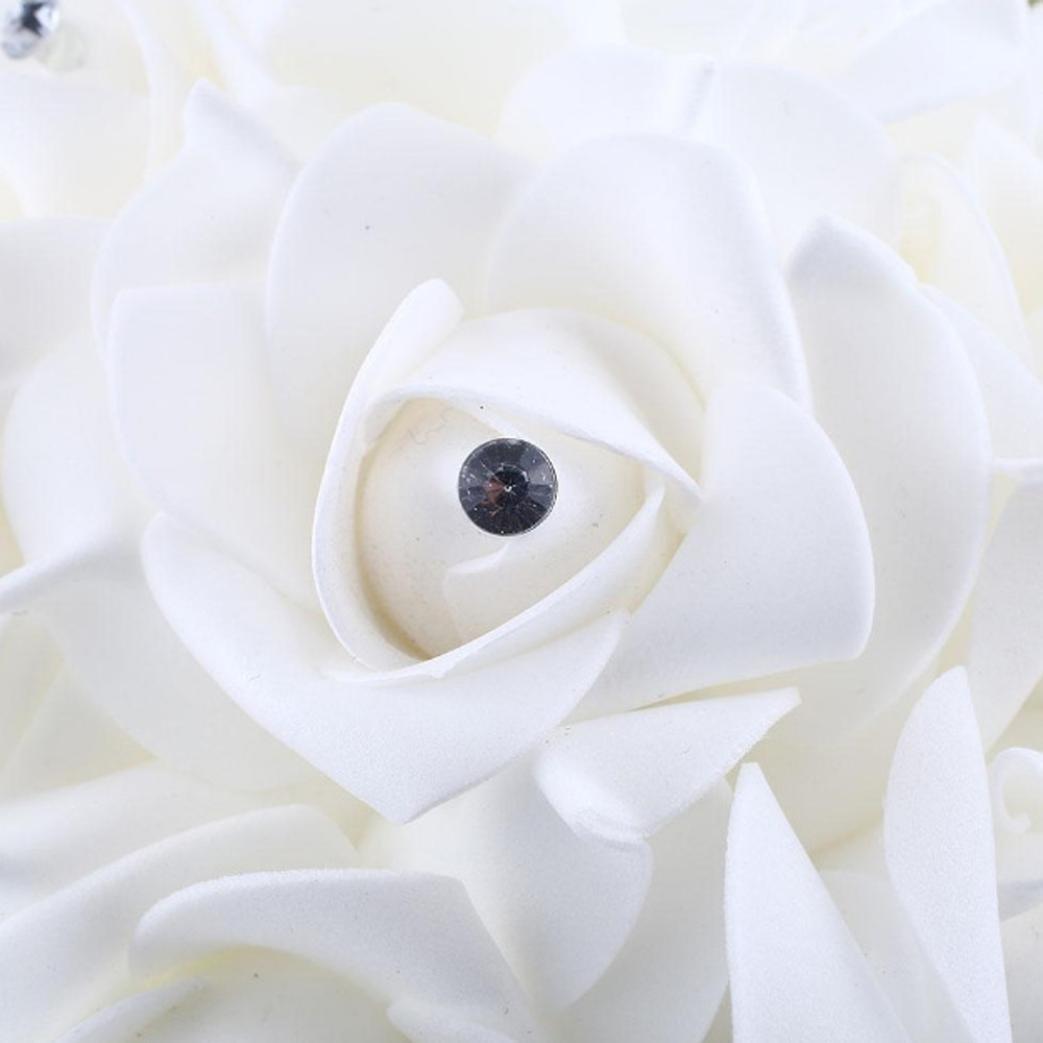 Flores artificiales Wondere, rosas de cristal, perlas para dama de honor, ramo de novia, flores artificiales de seda: Amazon.es: Juguetes y juegos