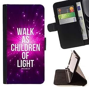Momo Phone Case / Flip Funda de Cuero Case Cover - BIBLIA andad como hijos de luz - Ephensians 5: 8; - LG OPTIMUS L90