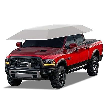 Amazon.com: XNNSH Semi-Automatic Intelligent Remote Control Car Tent,Movable Carport Folded Portable Automobile Protection Car Umbrella Sunproof Car Canopy ...
