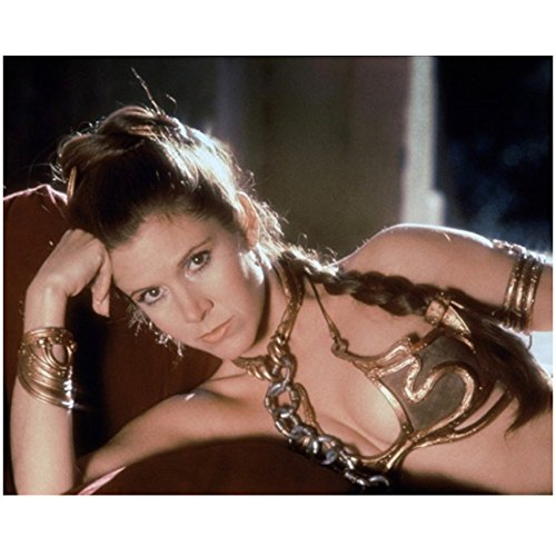 Carrie Fisher as Princess Leia Laying Down in Slave Outfit 8 x 10 Inch Photo -