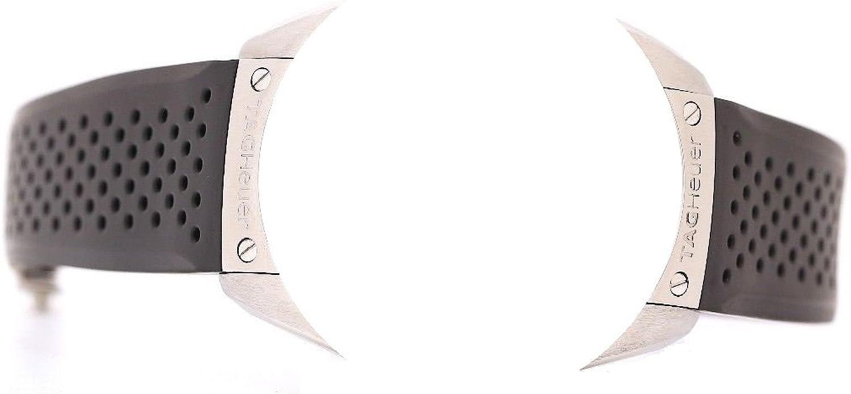 Correa de repuesto para reloj TAG Heuer, en plástico negro, 22/20 mm