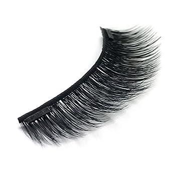 c794bd14bff 100% Mink Magnetic False Eyelashes Double Magnet 3D Reusable False Eyelash  Extensions, 4 Pieces - Uptown Lashes : Beauty