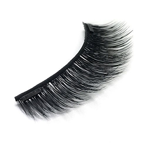 Town 3 Piece Costumes (100% Mink Double Magnetic Eyelashes with Two Magnets, Reusable 3D False Eyelashes, 4 Pieces – Uptown Lashes (Diva Lash))