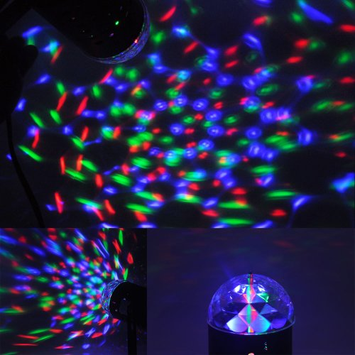 Tsss Led Rgb Crystal Ball Sound Active Stage Light For