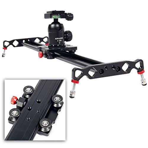 ASHANKS ビデオカメラ スライダー 全長120cm ビデオ安定化システム ブラック